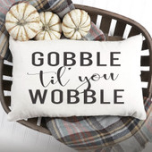 gobble til you wobble throw pillow