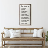 Fall Bucket List Large Wood Sign