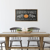Fall Farmers Market Large Wood Sign