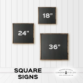 Begin Each Day With A Grateful Heart Square Sign