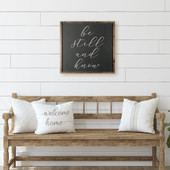 Be Still And Know Square Sign