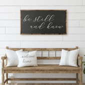 Be Still And Know Rectangle Sign