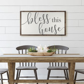 Bless This House Farmhouse Sign For Living Room