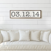 Special Date Sign For Living Room