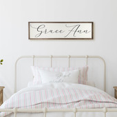 Wooden Girl Name Sign