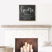 Home Definition Wood Sign
