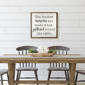 The Fondest Memories Are Made When Gathered Sign