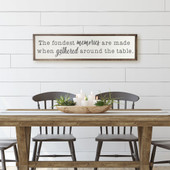 Fondest Memories Are Made Gathered Around The Table Sign