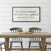 The Fondest Memories Are Made Sign