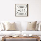 Home Sweet Home Farmhouse Wood Sign