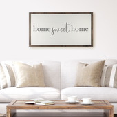 Home Sweet Home Farmhouse Sign For Above Couch