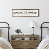 Do Small Things Sign For Above Bed