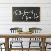 Faith Family And Farm Life Wood Sign