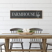 Farmhouse Life Dining Room Sign