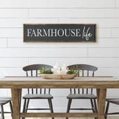 Farmhouse Life Dining Room Sign