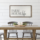 Farmhouse Life Large Wood Sign For Dining Room