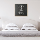 Let's Get Cozy Framed Sign