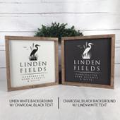 Home Established Date Housewarming Gift Wood Sign