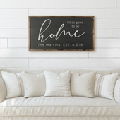 It's So Good To Be Home Custom Name Sign