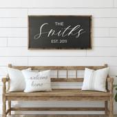 Family Last Name Sign - Farmhouse Sign