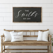 Family Last Name Sign - Farmhouse Sign