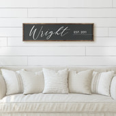 Last Name Sign For Above Couch
