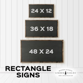 Last Name Established Date Farmhouse Sign