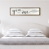 You And Me Master Bedroom Sign
