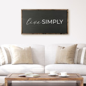 Live Simply Farmhouse Wood Sign For Above Couch