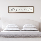 Stay Awhile Guest Bedroom Sign