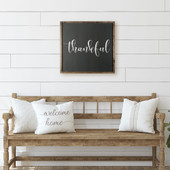 Thankful Farmhouse Wood Sign