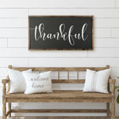 Large Thankful Sign For Above Mantel