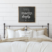 Truly Madly Deeply Square Wood Sign