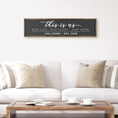 This Is Us Farmhouse Wood Sign