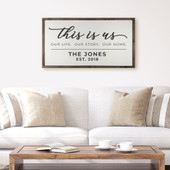 This Is Us Our Life Our Story Our Home Framed Wood Sign