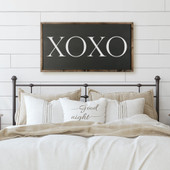 XOXO Framed Wooden Sign For Bedroom Wall