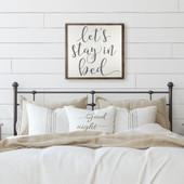 Let's Stay In Bed Framed Sign