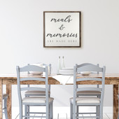Meals & Memories Are Made Here Kitchen Sign
