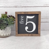 Family Number Farmhouse Wood Sign