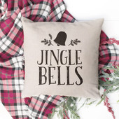 jingle bells christmas throw pillow