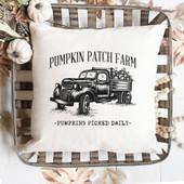Pumpkin Patch Farm Pillow