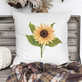 Watercolor Sunflower Fall Pillow Cover