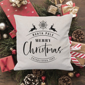 Personalized Christmas Throw Pillow