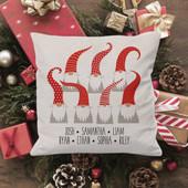 Gnome Grandkids Christmas Pillow