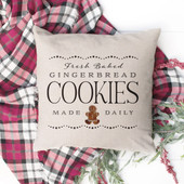 Fresh Baked Gingerbread Christmas Pillow Cover