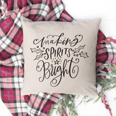 Making Spirits Bright Christmas Throw Pillow Cover