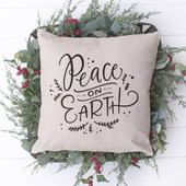 Peace On Earth Farmhouse Christmas Pillow
