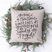 Farmhouse Holiday Throw Pillow Magic of Christmas