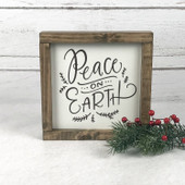 Peace On Earth Farmhouse Christmas Sign