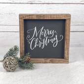 Merry Christmas Farmhouse Wood Sign